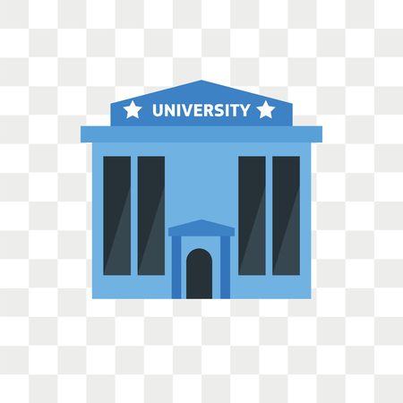 University vector icon isolated on transparent background, University logo concept Иллюстрация