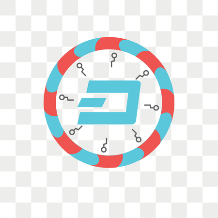 Dash vector icon isolated on transparent background, Dash logo concept