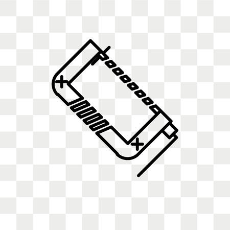 Icono de vector de abrazadera aislado sobre fondo transparente, concepto de logo de abrazadera