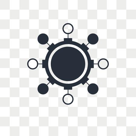 Algorithm vector icon isolated on transparent background, Algorithm logo concept