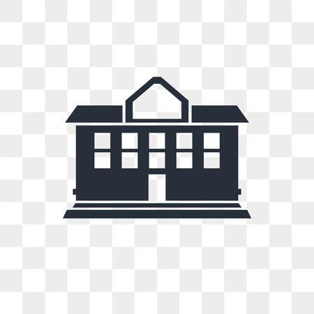 Icône de vecteur de manoir isolé sur fond transparent, concept logo Mansion