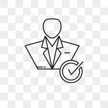 Icône de vecteur de candidat isolé sur fond transparent, concept logo candidat