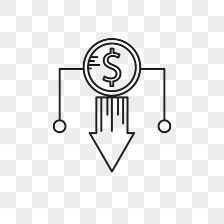 Loss vector icon isolated on transparent background, Loss logo concept