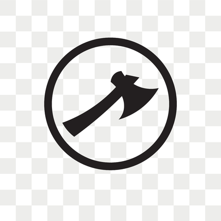 Lumberjack vector icon isolated on transparent background, Lumberjack logo concept
