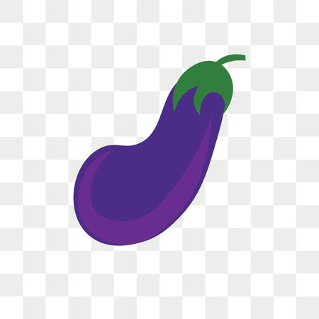Aubergine vector icon isolated on transparent background, Aubergine logo concept Illustration