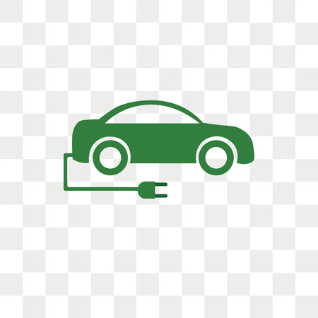 Electric car vector icon isolated on transparent background, Electric car logo concept Logo