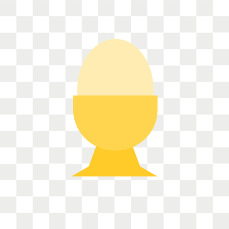 Boiled egg vector icon isolated on transparent background, Boiled egg logo concept