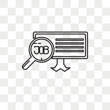 Job search vector icon isolated on transparent background, Job search logo concept Illustration
