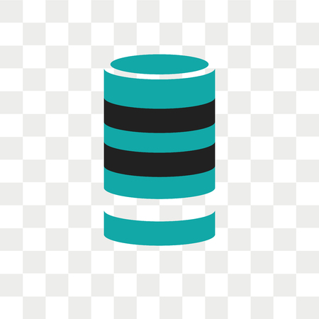 data analytics cylinder vector icon isolated on transparent background, data analytics cylinder logo concept Logo