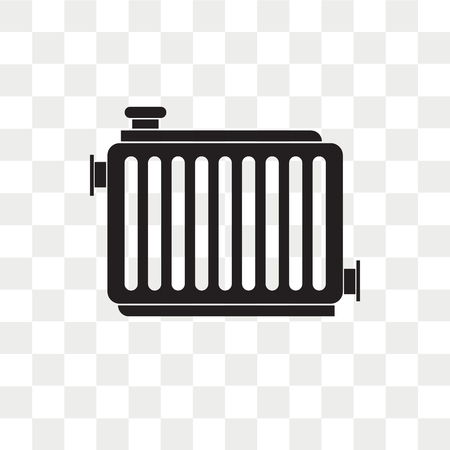 Radiator vector icon isolated on transparent background, Radiator logo concept