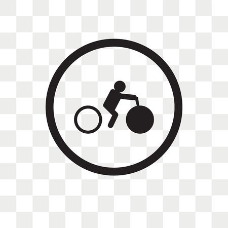 Bicycle rental vector icon isolated on transparent background, Bicycle rental logo concept Illustration