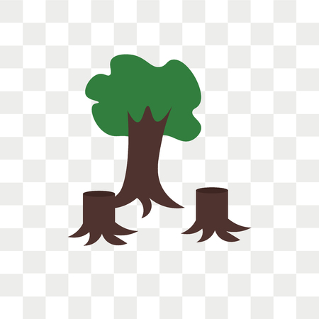 Deforestation vector icon isolated on transparent background, Deforestation logo concept