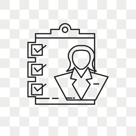 Icono de vector de administrador aislado sobre fondo transparente, concepto de logo de administrador