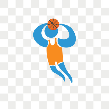 Player vector icon isolated on transparent background, Player logo concept Vettoriali