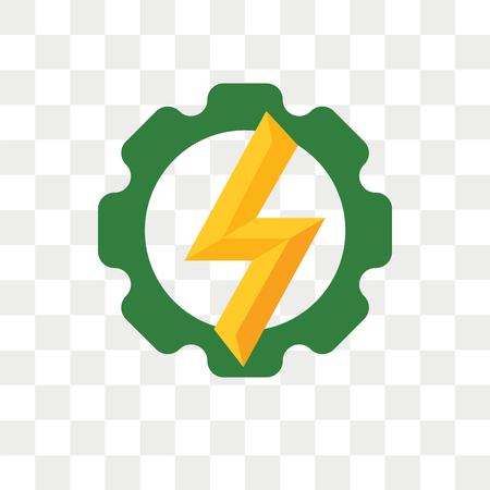 Icono de vector de energía aislado sobre fondo transparente, concepto de logo de energía