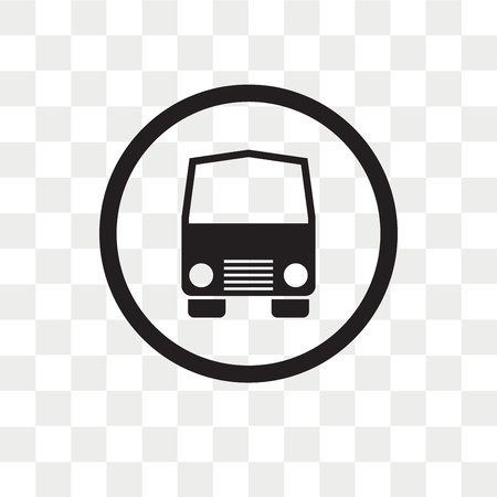 Public transportation vector icon isolated on transparent background, Public transportation logo concept