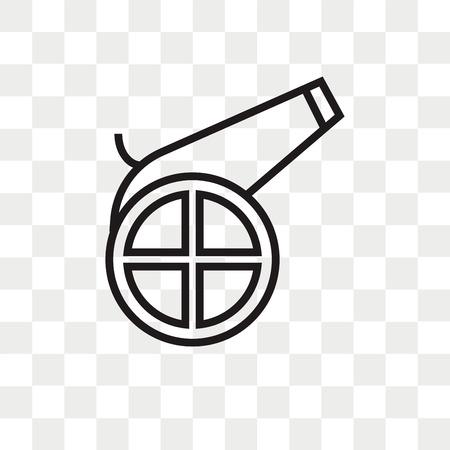 Icono de vector de cañón aislado sobre fondo transparente, concepto de logo de cañón