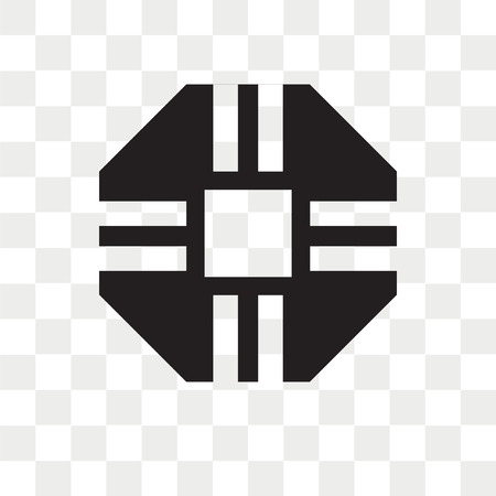 Octagon vector icon isolated on transparent background, Octagon logo concept 向量圖像
