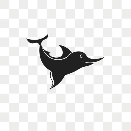 Swordfish vector icon isolated on transparent background, Swordfish logo concept Illustration