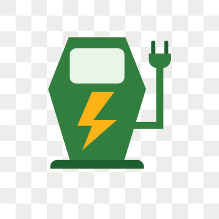 Charging vector icon isolated on transparent background, Charging logo concept