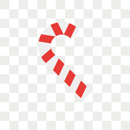 Candy cane vector icon isolated on transparent background, Candy cane logo concept