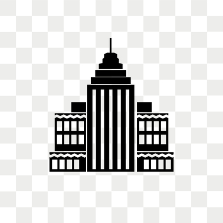 Empire state vector icon isolated on transparent background, Empire state logo concept Banque d'images - 108634334
