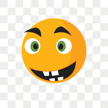 Nervöse Lächelnvektorikone lokalisiert auf transparentem Hintergrund, nervöses Lächelnlogokonzept