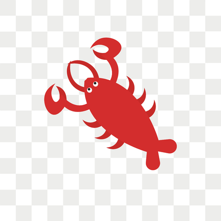 Lobster vector icon isolated on transparent background, Lobster logo concept