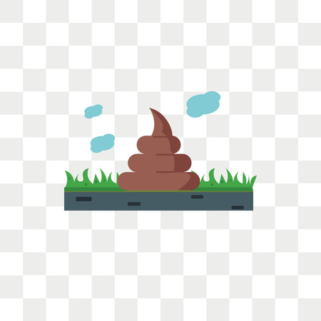 Icona di vettore di cacca isolato su sfondo trasparente, concetto di marchio di cacca