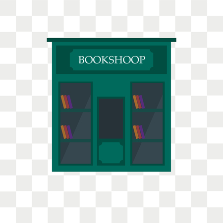 Book shop vector icon isolated on transparent background, Book shop logo concept