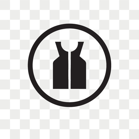 Life Jacket vector icon isolated on transparent background, Life Jacket logo concept