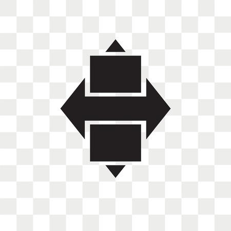 Rhombus vector icon isolated on transparent background, Rhombus logo concept Stock Illustratie