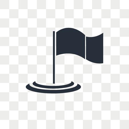 Icône de vecteur de jalon isolé sur fond transparent, concept logo Jalon