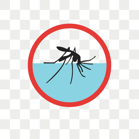 Malaria vector icon isolated on transparent background, Malaria logo concept