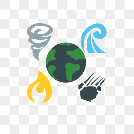 Disaster vector icon isolated on transparent background, Disaster logo concept