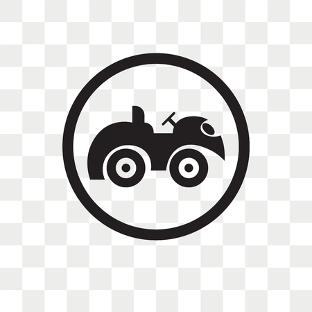 Quad Bike vector icon isolated on transparent background, Quad Bike logo concept