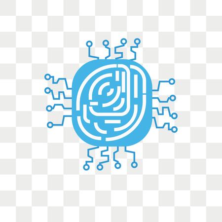 Fingerprint vector icon isolated on transparent background, Fingerprint logo concept