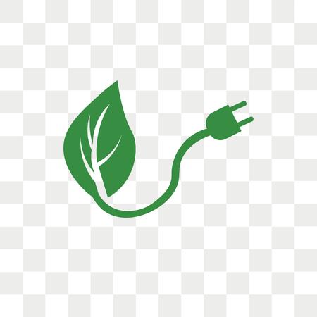 Renewable energy vector icon isolated on transparent background, Renewable energy logo concept Illustration