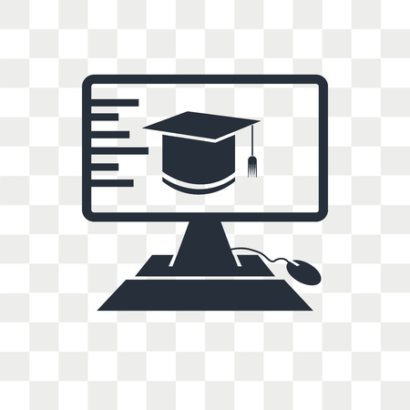 Elearning vector icon isolated on transparent background, Elearning logo concept Foto de archivo - 108635598
