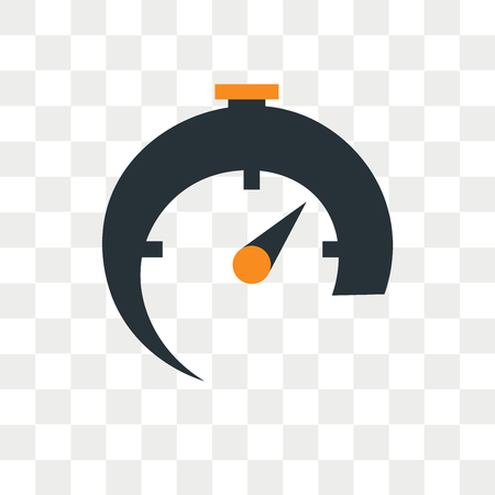 Timer vector icon isolated on transparent background, Timer logo concept