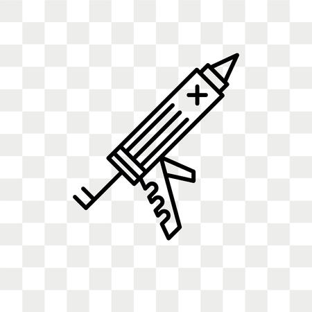 Sealant gun vector icon isolated on transparent background, Sealant gun logo concept Illustration