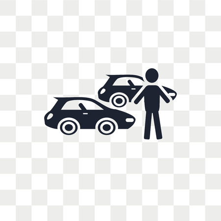 Car collection vector icon isolated on transparent background, Car collection logo concept