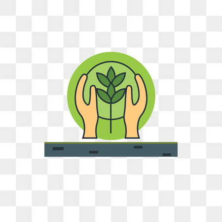 Conservation vector icon isolated on transparent background, Conservation logo concept