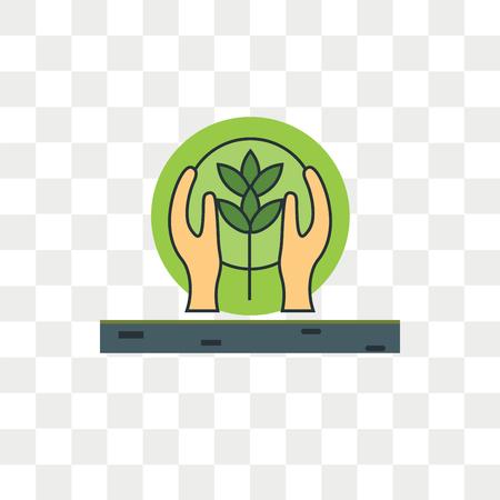 Naturschutzvektorsymbol lokalisiert auf transparentem Hintergrund, Naturschutzlogokonzept