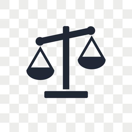 Icono de vector de escala aislado sobre fondo transparente, concepto de logo de escala Logos