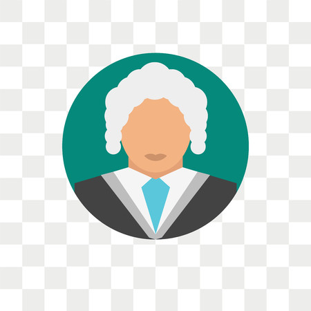 Judge vector icon isolated on transparent background, Judge logo concept