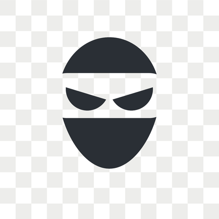 Ninja vector icon isolated on transparent background, Ninja logo concept