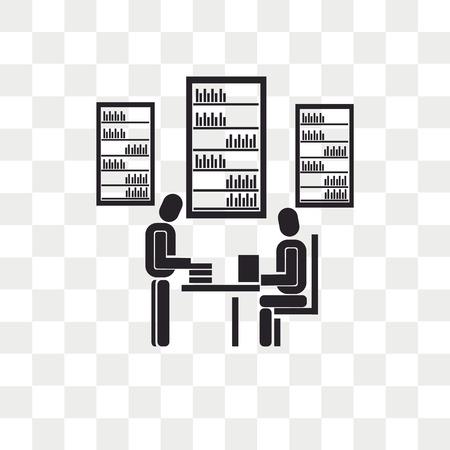 Icono de vector de biblioteca aislado sobre fondo transparente, concepto de logo de biblioteca Logos