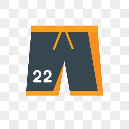 Shorts Vektor Icon isoliert auf transparentem Hintergrund, Shorts Logo Konzept