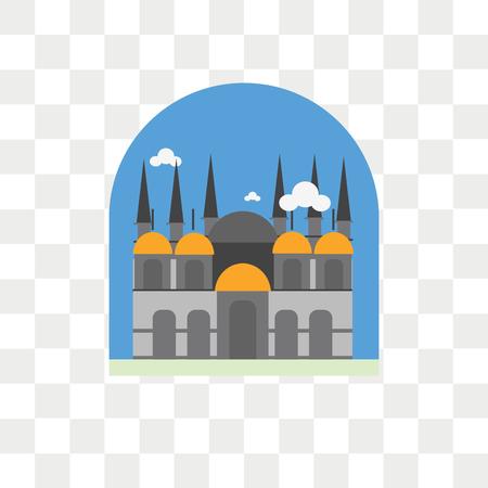 Icona di vettore della basilica di San Marco isolato su sfondo trasparente, concetto di marchio della basilica di San Marco
